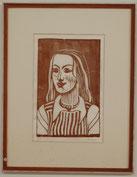 13 Holzschnitt: Meine Mona Lisa