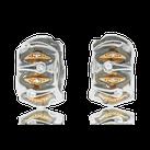 Kreolen in Weiss- und Rotgold mit Brillanten aus der Goldschmiede OBSESSION