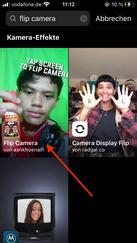 """Gib """"Flip Camera"""" ein"""