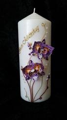 Orchideen Kerze