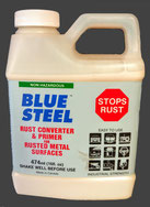 BLUE STEEL, INDUSTRIAL STRENGTH RUST CONVERTER