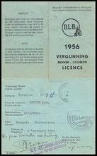Licentie BLB 1956