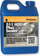 Miracle Brand H2O Plus Sealer for marble, granite, limestone, travertine, and more