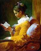 Lesende Frau von J.H. Fragonard