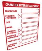 Constat d'affichage légal, obligation affichage permis de construire, affichage consignes de sécurité, consignes d'évacuation