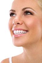 Strahlendes Lachen Hollywood Lächeln weiße Zähne