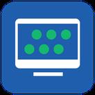 Symbol für das virtuelle Klassenzimmer / den virtual classroom.