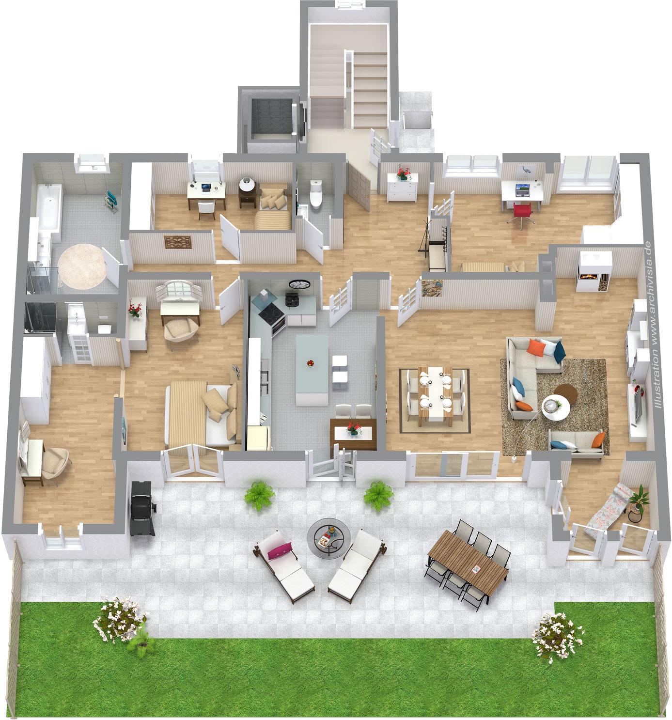 immogrundriss knx grundrissservice grundrisszeichenservice g nstig 2d grundriss f r. Black Bedroom Furniture Sets. Home Design Ideas