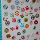 Magnete, Stoffmagnete, Stoff, bezogen, Button, Stoffbutton, Kühlschrankmagneten, Kühlschrankmagnet, individuell, Geschenk, selbstgemacht