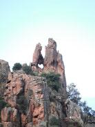 chasse au trésor à piana sur l'ancien muletier et à travers les tours de granite rose