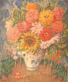 vase de fleurs 1934 45x36 huile sur carton  André Aaron Blils