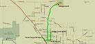 Strecke am 11. Tag: - 40 km (Microsoft Streets & Trips)