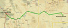 Strecke am 10. Tag: - 396 km (Microsoft Streets & Trips)