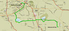 Strecke am 14. Tag: - 84 km (Microsoft Streets & Trips)