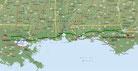 Strecke am 44. Tag: - 625 km (Microsoft Streets & Trips)