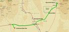 Strecke am 9. Tag: - 234 km (Microsoft Streets & Trips)