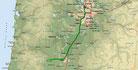 Strecke am 29. Tag: - 102 km (Microsoft Streets & Trips)