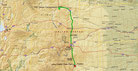 Strecke am 39. Tag: - 651 km (Microsoft Streets & Trips)