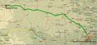 San Antonio - Fort Stockton - 597 km (Microsoft Streets & Trips)