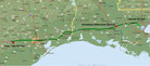 Livingston - Columbus/Alleyton - 597 km (Microsoft Streets & Trips)