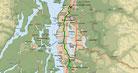 Strecke am 33. Tag: - 69 km (Microsoft Streets & Trips)