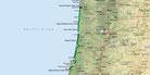 Strecke am 27. Tag: - 220 km (Microsoft Streets & Trips)