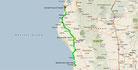 Strecke am 25. Tag: - 254 km (Microsoft Streets & Trips)