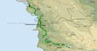 Strecke am 19. Tag: - 164 km (Microsoft Streets & Trips)