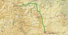 Strecke am 38. Tag: - 545 km (Microsoft Streets & Trips)