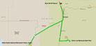 Strecke am 8. Tag: - 202 km (Microsoft Streets & Trips)