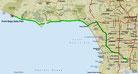 Strecke am 9. Tag: - 96 km (Microsoft Streets & Trips)