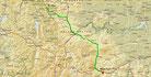Strecke am 37. Tag: - 575 km (Microsoft Streets & Trips)