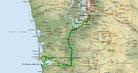Strecke am 32. Tag: - 334 km (Microsoft Streets & Trips)