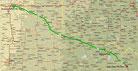 Strecke am 41. Tag: - 465 km (Microsoft Streets & Trips)