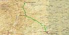 Strecke am 40. Tag: - 558 km (Microsoft Streets & Trips)