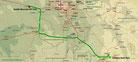 Strecke am 9. Tag: - 282 km (Microsoft Streets & Trips)