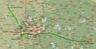 Strecke am 42. Tag: - 3822 km (Microsoft Streets & Trips)