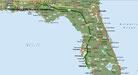 Strecke Venice - Bonifay - 696 km (Microsoft Streets & Trips)
