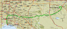 Strecke am 15. Tag: - 102 km (Microsoft Streets & Trips)