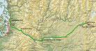 Strecke am 34. Tag: - 529 km (Microsoft Streets & Trips)