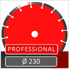 prodito slijpschijf voor het verzagen van  beton en gewapend beton diameter 230mm op een haakse slijper