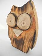 Eulen aus Holz