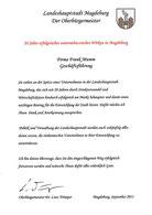 Urkunde des Oberbürgermeisters