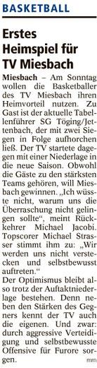 Artikel im Miesbacher Merkur am 15.10.2016 - Zum Vergrößern klicken
