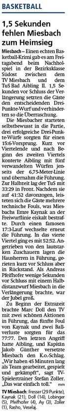 Bericht im Miesbacher Merkur am 5.3.2019 - Zum Vergrößern klicken