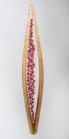 Bois / fil de fer / soudures / papier - hauteur: 100 cm (atelier