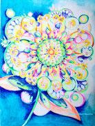 severine saint-maurice, lescerclesdelumiere.com, mandala, crayons de couleur, dessin, dessin intuitif