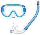 スキンダイビング器材のマスクとスノーケル