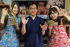 2018年 雑誌「横浜ウォーカー」の特集で乃木坂46にシーサー作りを指導