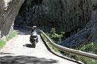 Canyon de Anisclo - der Vellos hat sich eine tiefe Schlucht in den Fels gesägt.